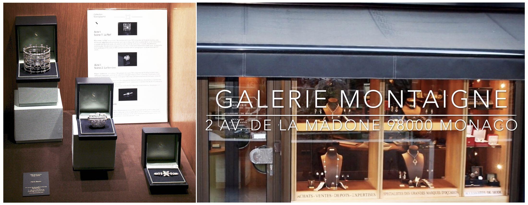 Galerie Montaigne vitrine Irène paris