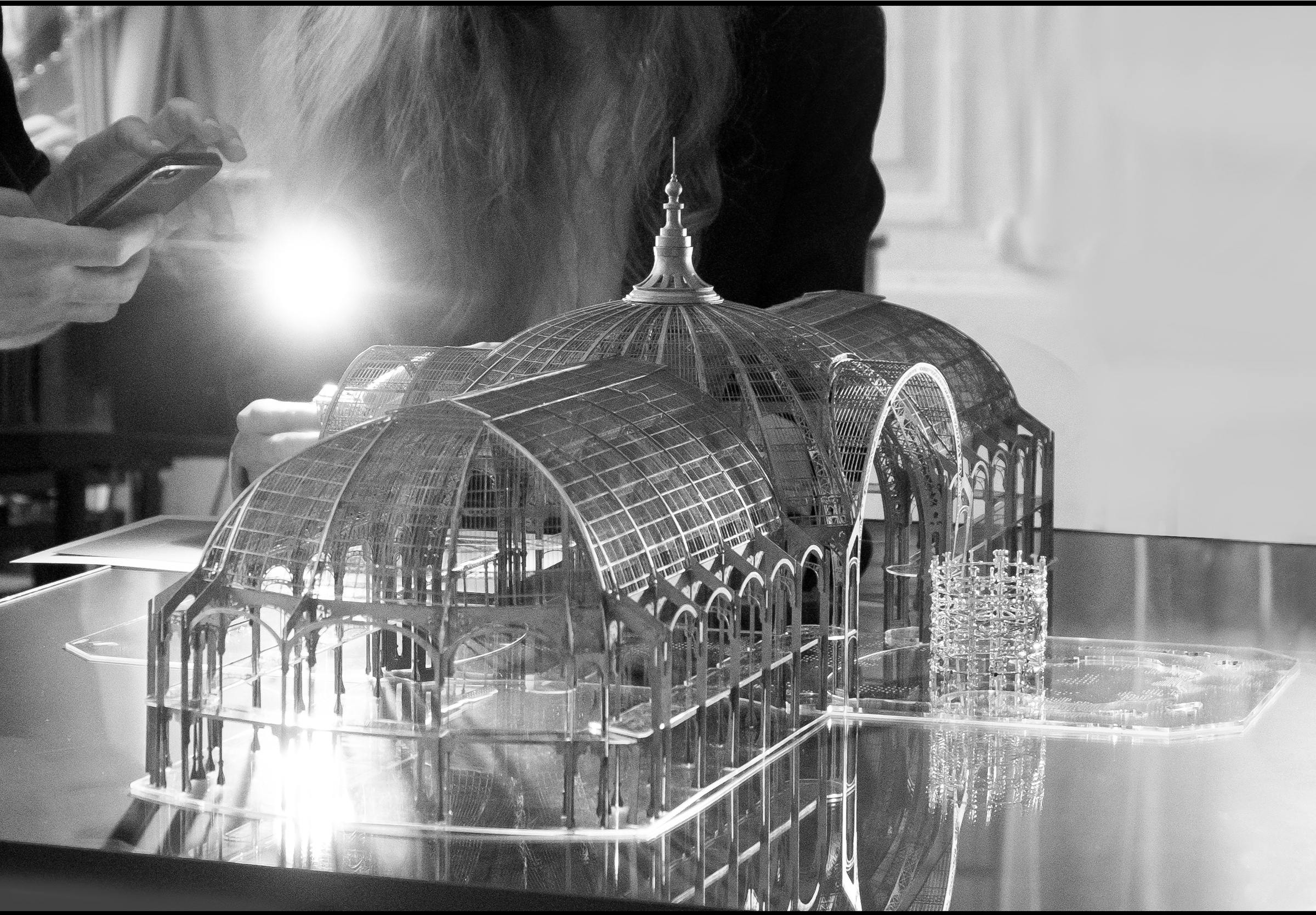 The Nave Cuff staged in a 1/250th scale model of the Grand Palais - Irène - Paris - High Jewellery - Architecture - Scenography